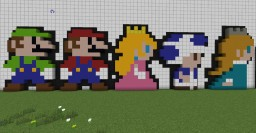Super Mario Characters (Set of 5) Minecraft Map & Project