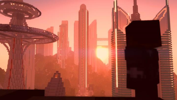 Black Panther watching over the beautiful city of Wakanda