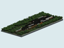 Abandoned train yard diorama Minecraft