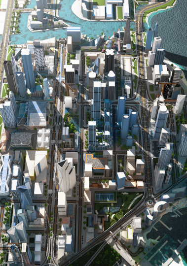 Overview of the main city - Render By Timothy C.