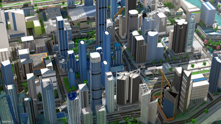 Overview of Downtown - Render By Timothy C.