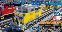 [1.5:1 Scale] EMD SD70ACe diesel-electric locomotive│BNSF, CSX, NS, UP & more Minecraft Map & Project