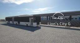 MAN Lion's City G CNG Bus (Stock, Stockholm Livery) Minecraft Map & Project