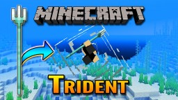 Mincraft 1.13 Aquatic Update | Trident Showcase Minecraft Blog Post