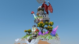 Fantasy Dragon plot build (Shadow Kingdom) Minecraft