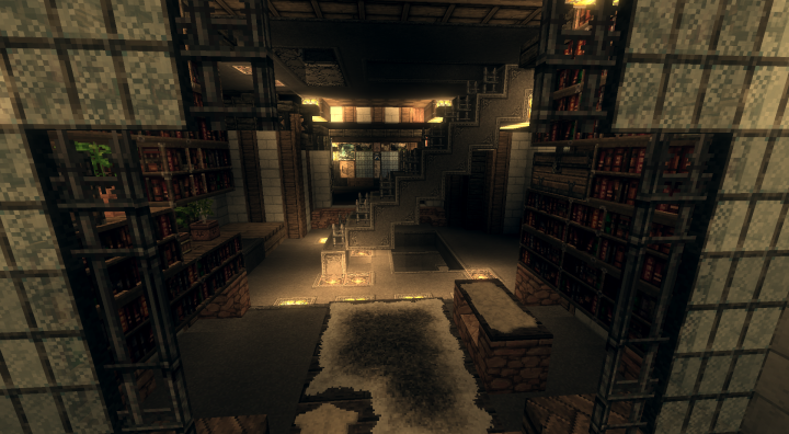 Interior of Malevolent Mechanical Mansion - Must use Conquest Texture Pack to see interior of House!