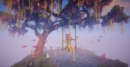 Summer Reflections | Wisteria Tree and Fairy Minecraft