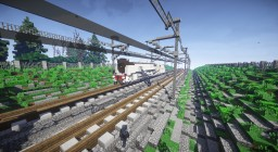 """Mikado"" ver. Renfe gris Steam Locomotive Minecraft Map & Project"