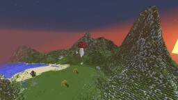 Mountain Island Landscape Minecraft Map & Project