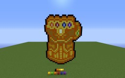 Infinity Gauntlet Pixel Art Minecraft Map & Project