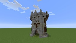 Game of Thrones inspired gatehouse Minecraft Map & Project