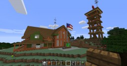 Ranger Station, Tower and Substation Minecraft Map & Project