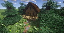 Wooden hut Minecraft Map & Project