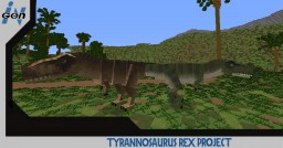 JURASSICRAFT - T-Rex skin Project (Trasher Rex) Minecraft Map & Project