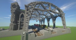 Victorian train station Minecraft
