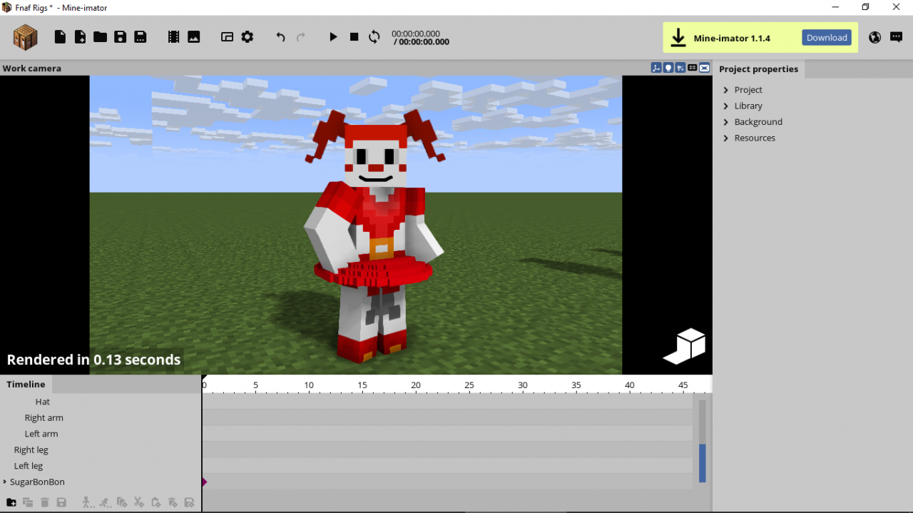 Circus Baby Model Rig For Mine Imator Read Desc For Info
