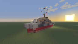 USS Samuel B. Roberts destroyer escort bathtub build Minecraft Map & Project