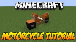 Motorcycle Easy Tutorial Minecraft Map & Project