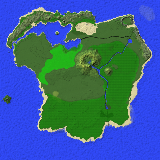 Hamilchar\'s RPG Map - 5k Survival Island Minecraft Project