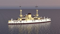 USS Texas (1892) Minecraft