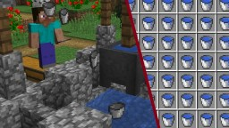 Automatic Bucket Filling Well Minecraft Map & Project
