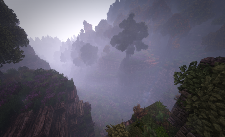One of the misty valleys Strider and the hobbits passed through