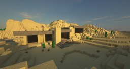 Simplistic modern desert house Minecraft Map & Project