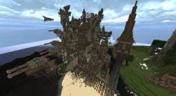 Steampunk Cliff City Minecraft Map & Project