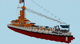 USS Montana. Fictional US Monitor . (1896) Minecraft