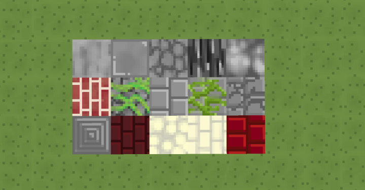 stone and brick types of blocks redesigned