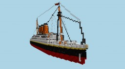 SS United States. Fictional US Ocean Liner . (1:1) (No Interior) Minecraft Map & Project