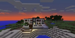 Modern Restone House With Yacht Minecraft