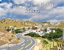 Town - Horseshoe Bend, Idaho - Idaho Map Project Minecraft Map & Project