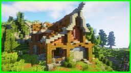 Survival Minecraft House (WORLD DOWNLOAD) / Minecraft Timelapse Minecraft Map & Project