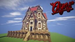 Mega build - house + train Minecraft Map & Project