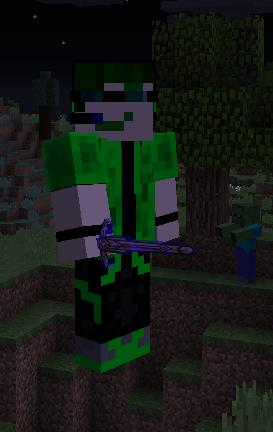 Goldn holding a Goldn Sword