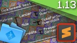 [EN & FR] - DataPack : TickSpeed Test {Minecraft 1.13} Minecraft Mod