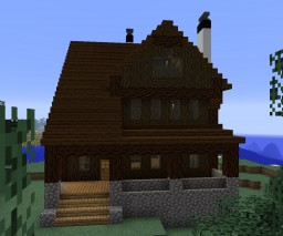 Shingle-Style Lake House Minecraft Map & Project