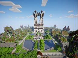Cathedral Spawn 37.5 million blocks Minecraft Map & Project