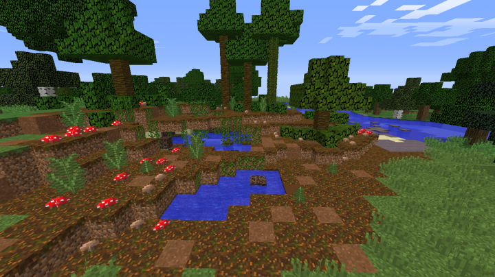 A custom blighted swamp biome in our map