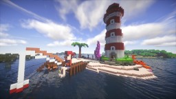 LIGHTHOUSE FISHING OCTOPUS CRAB ISLAND TREAUSER Minecraft Map & Project