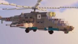 Mil-Mi 24 Helicopter Gunship Minecraft