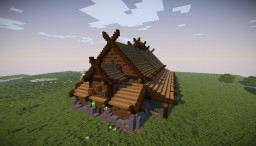 Survival Viking Longhouse - Perfeita para Survival Minecraft
