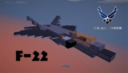 Lockheed Martin F-22 Raptor Minecraft Map & Project