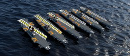 A Journey Through Time of US Supercarriers Minecraft