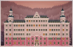 """The Grand Budapest Hotel"" by Dogester. Minecraft"
