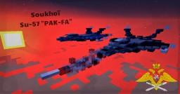 "Soukhoi Su-57 ""PAK-FA"" Minecraft Map & Project"
