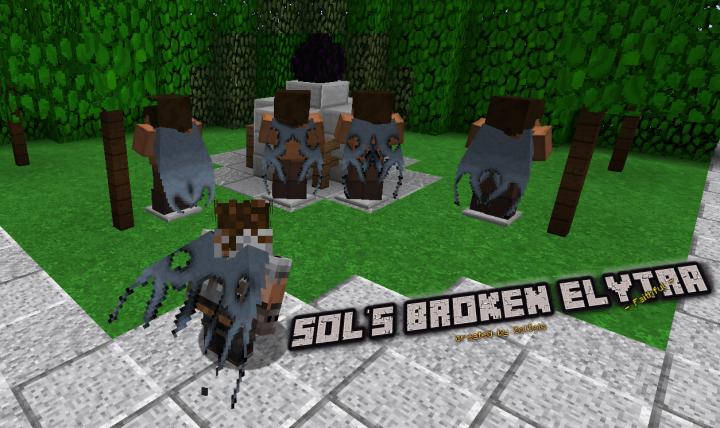 Sol's broken Elytra Faithful Minecraft Texture Pack