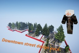 Downtown street design pack Minecraft Map & Project