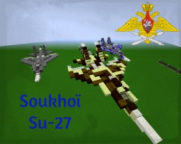 Soukhoi Su-27 Flanker Minecraft Map & Project